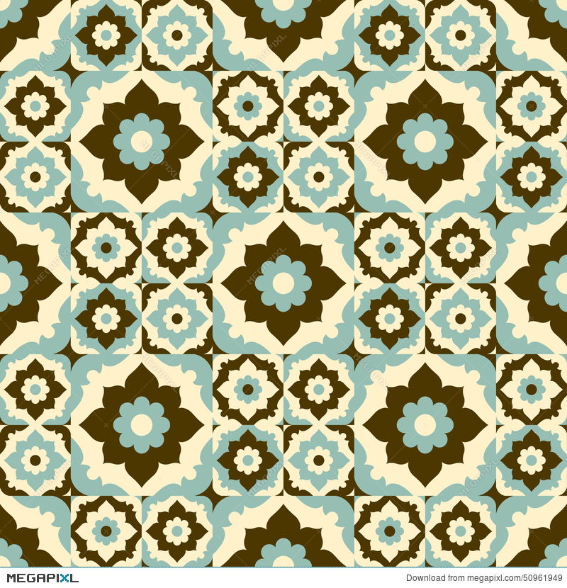 seamless pattern retro ceramic tile