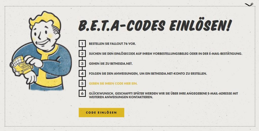 How To Enter Fallout 76 Beta On PC PS4 Xbox One