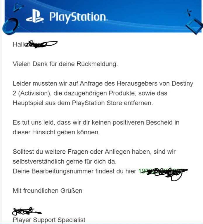 Sony PS4 mail