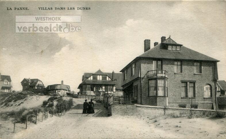 De Panne: bebouwing begin 20ste eeuw in de 'Sentier des Dunes'