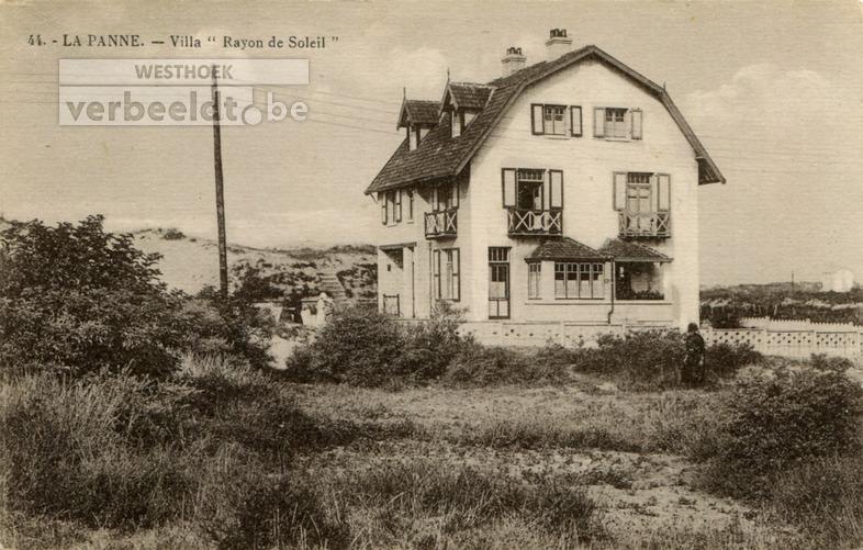 De Panne: villa's Rayon de Soleil en Graziella in de Doktersweg