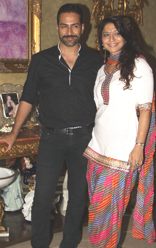Sudhanshu Pandey with wife Mona Spotted at Mika Singh Birthday Party