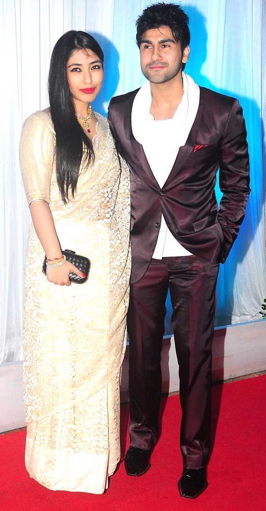 Aarya Babbar with Girlfriend Shrishti Nayyar at Esha Deol Wedding Reception