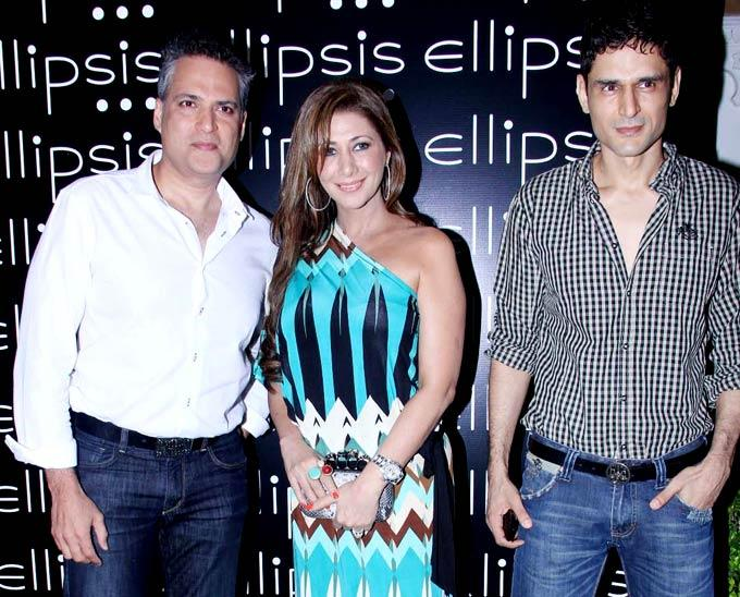 Rukshana and Niketan with a Friend at Opening Of Ellipsis Restaurant