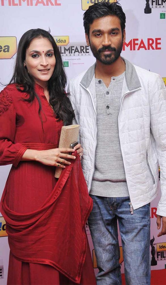 Aishwarya and Dhanush at 59th Filmfare South Awards