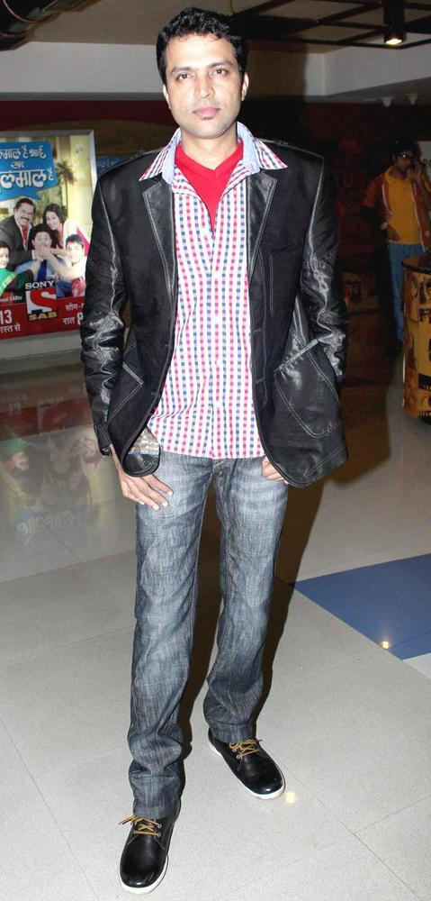 Ankush Chaudhary at No Entry Pudhe Dhokha Aahe Premiere