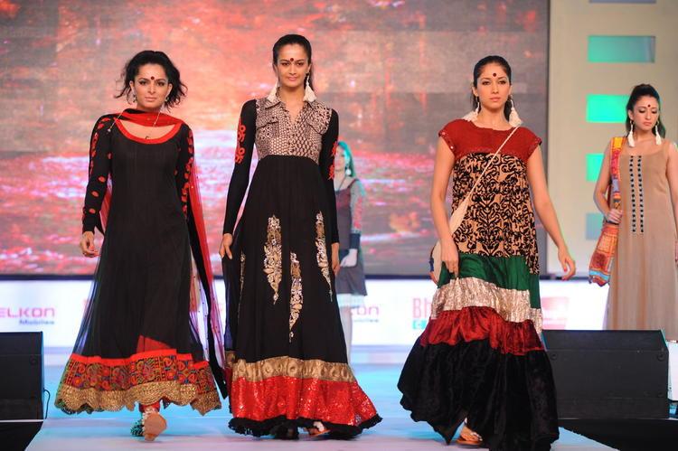Stars Ramp Walk at South Spin Fashion Awards