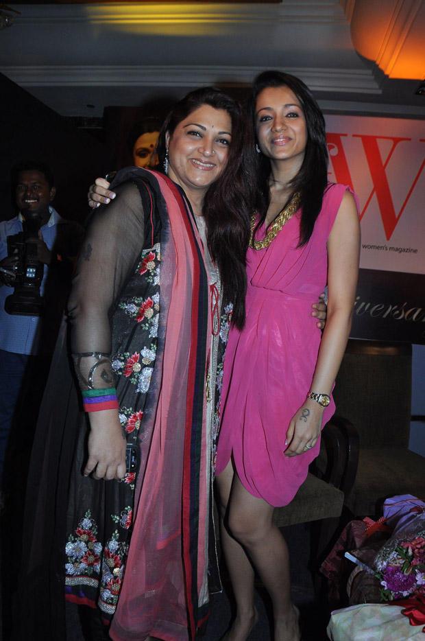 Trisha and Kushboo Attends 5th Anniversary Celebration Of JFW Magazine