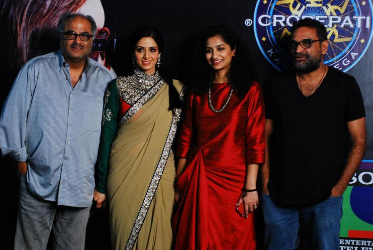 Cast Of English Vinglish at KBC 6 For Promote Their Film