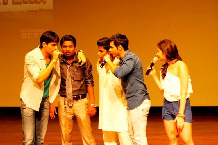 Alia Bhatt and Varun Dhawan Promote SOTY at Indira College Pune