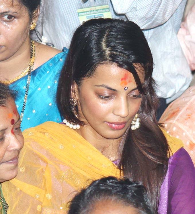 Mugdha Godse At A Ganesh Mandal
