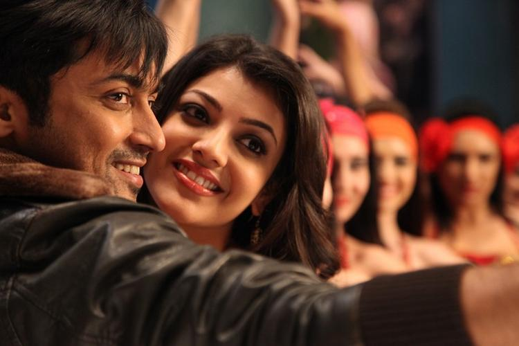 Kajal Agarwal And Surya Song Still From Brothers Movie