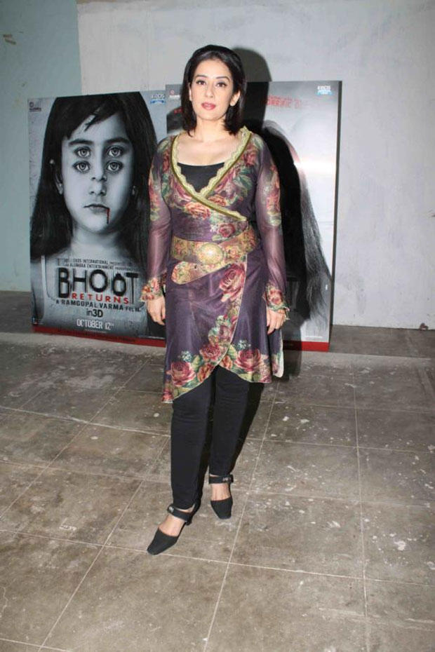 Manisha Koirala Pose During The Promotion Of Hindi Movie Bhoot Returns