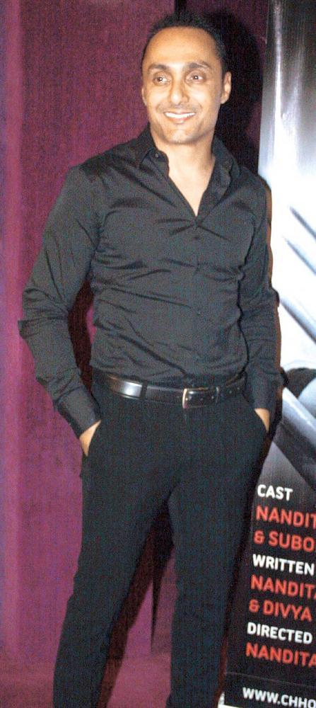 Rahul Bose Smiling Pose At SoBo Theatre