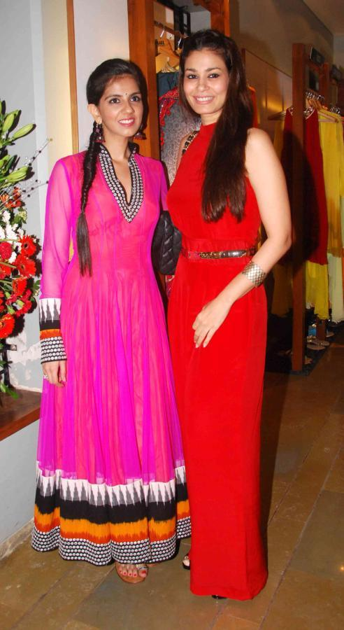 Shaheen And Nishika Posed At FUEL Fashion Store Launch Event