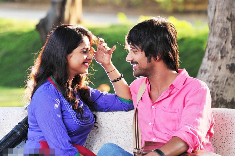 Sanchitha And Varun A Still From Chammak Challo Movie