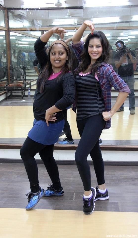 Sunny And Shabina Still During Rehearsal