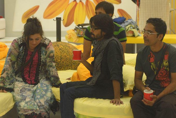 Delnaaz,Aseem,Brijesh And Rajeev At  Bigg Boss House In Day 14