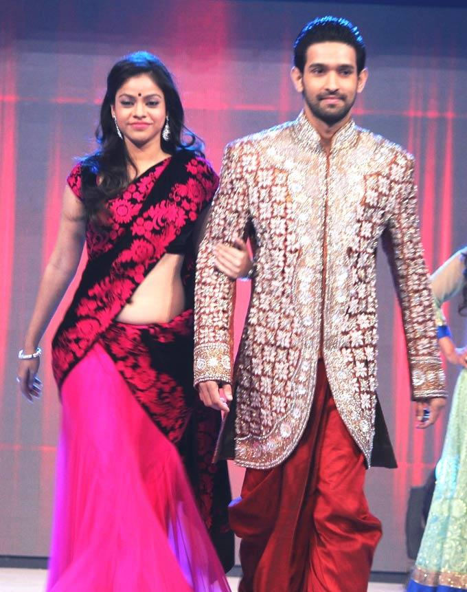 Sumona And Vikrant Walks On Ramp At Gitanjali ITA Fashion Show