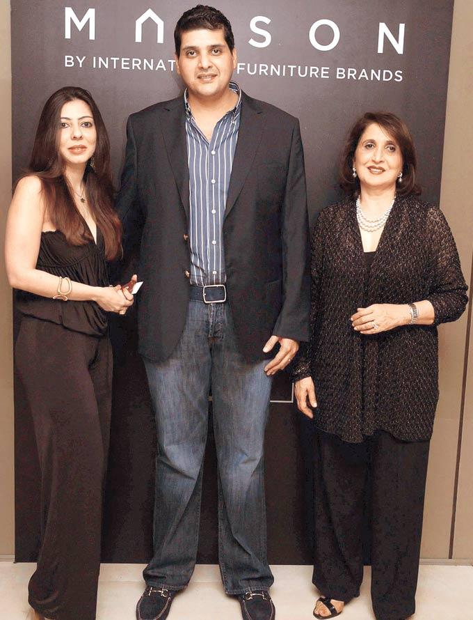 Alesha,Samvit And Aruna At The Launch Of International Furniture Brand Store