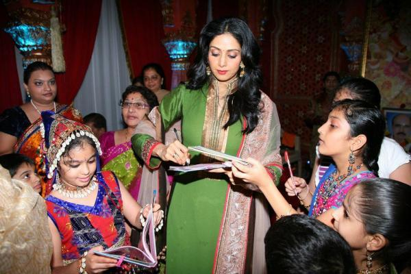 Sridevi Attend The Navaratri Utsav At Mulund Mumbai Morphosis