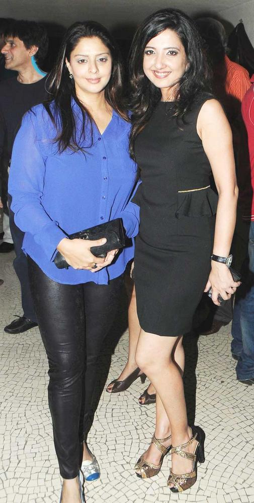 Nagma And Amy Posed For Camera At Her Birthday Bash