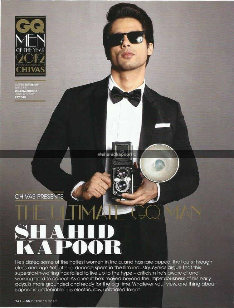 Shahid Kapoor Exclusive Photoshoot For GQ Magazine October