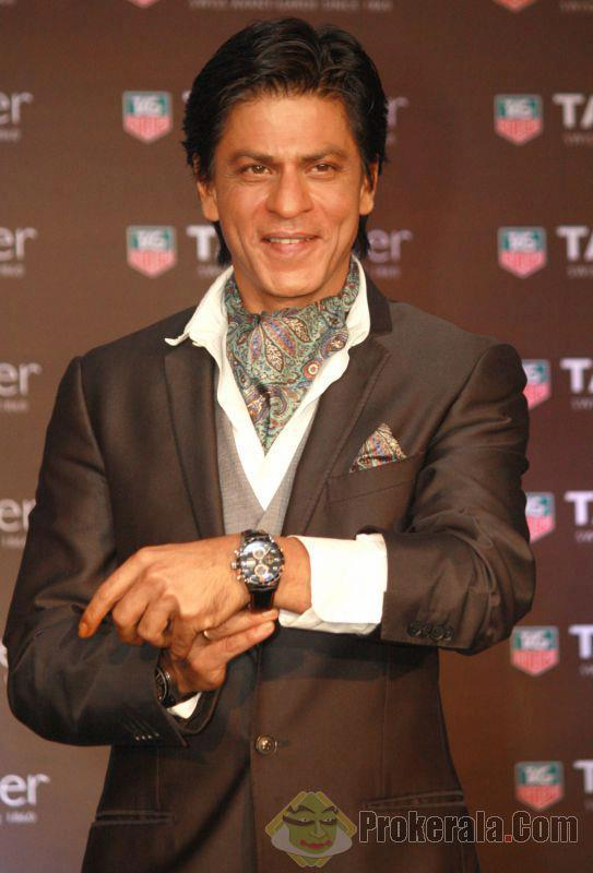 Shahrukh Khan Shows A Watch At Tag Heuer Carrera Collection 2012 Launch