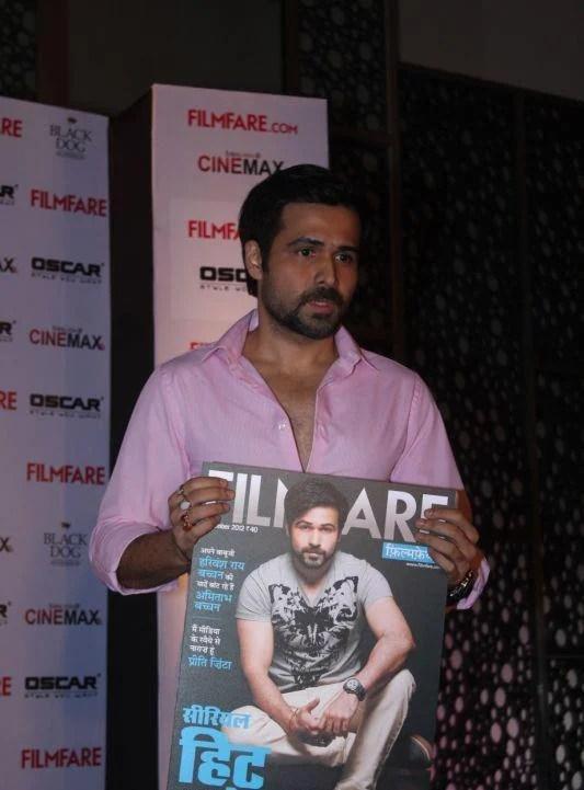 Emraan Hashmi Shows The magazine At Filmfare Magazine Launch