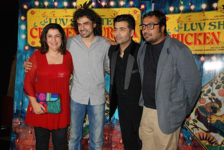 Farah,Karan,Imtiaz And Anurag Spotted At Luv Shuv Tey Chicken Khurana Premiere