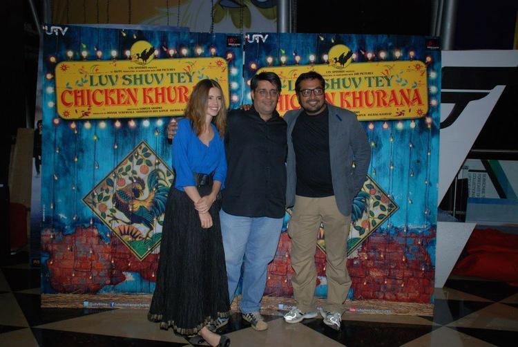 Kalki And Anurag Clicked At Luv Shuv Tey Chicken Khurana Premiere