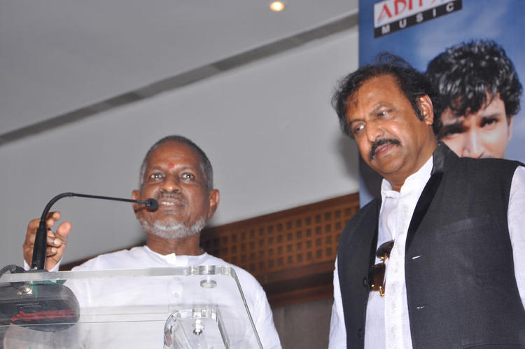 Ilayaraja Smiling Still At Maranthen Mannithen Movie Audio Launch