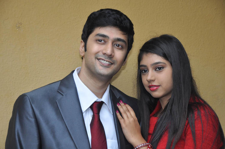 Rahul And Neethi Cute Smiling Face Look Still At Pelli Pusthakam Movie Launch