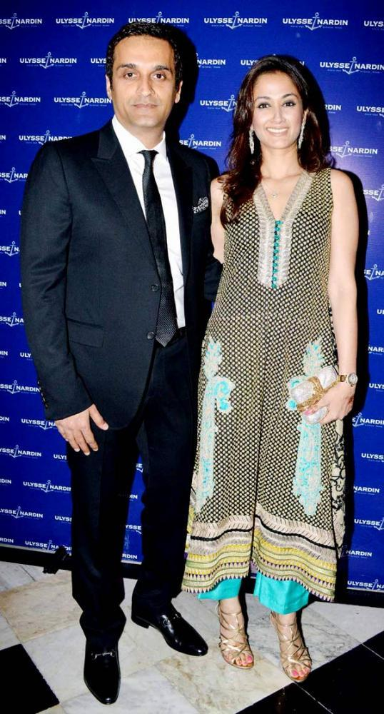 Gayatri With Hubby Vikas Attend The Launching Event Of Ulysse Nardin 34 Watches