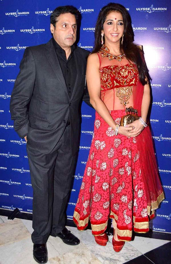 Sunil With Wife Krishika At The Launch Of Ulysse Nardin 34 Watches