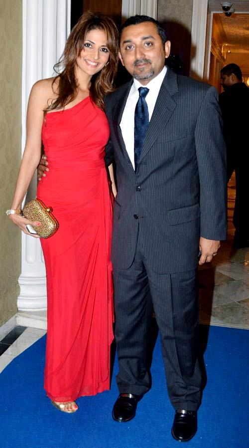 Tanaaz With Husband Chirag Clicked At The Launch Of Ulysse Nardin 34 Watches