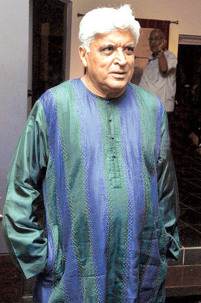 Javed Akhtar Is Busy In A Conversation At Devangana Kumar Art Exhibition
