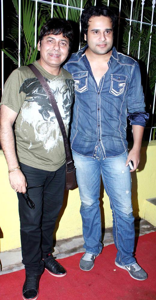 Krishna Abhishek And Sudesh Lehri During The Launch Of Coffee Adda