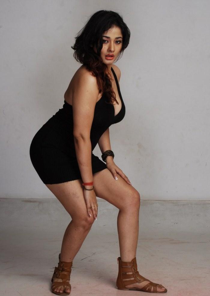 Kiran Rathod Bold In Black Dress Still