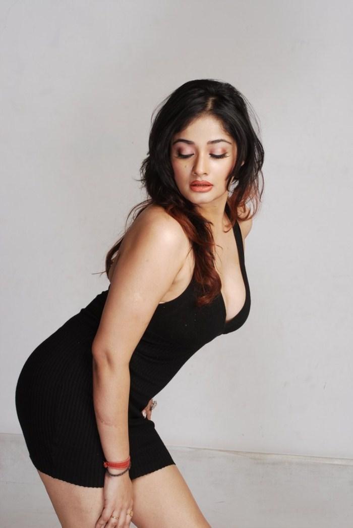 Kiran Rathod Sexy In Black Dress Still
