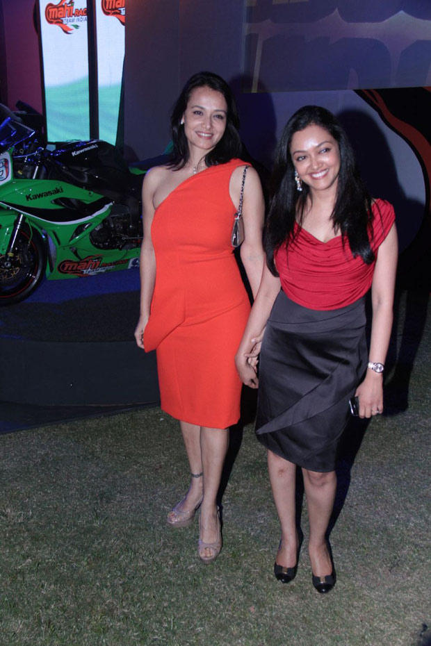 Amala Posed With Her Friend At Mahi Racing Team India Launch