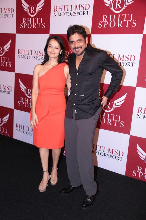 Nagarjuna With His Wife Amala At Mahi Racing Team India Launch
