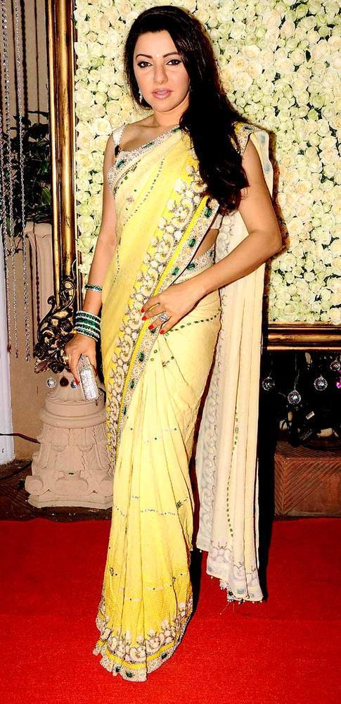 Kehkashan Posed During The Kiran Bawa's Diwali Bash
