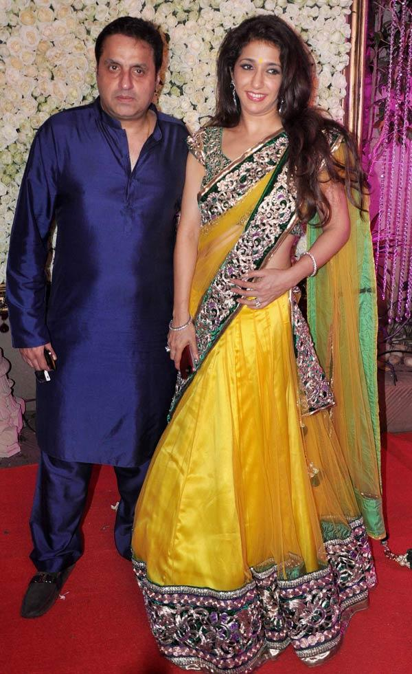 Sunil And Krishika Smiling At Kiran Bawa's Diwali Bash