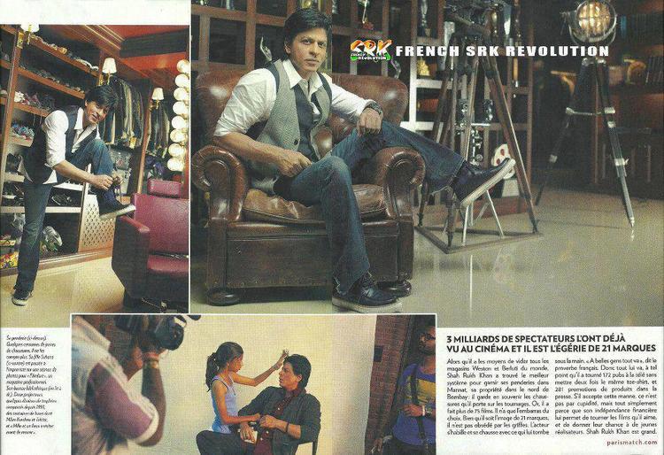 Shahrukh Khan On French Magazine Cover