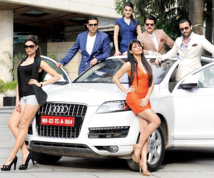 Saif,Deepika,John,Jacqueline,Anil And Ameesha Photo Shoot For Promotes Audi Car