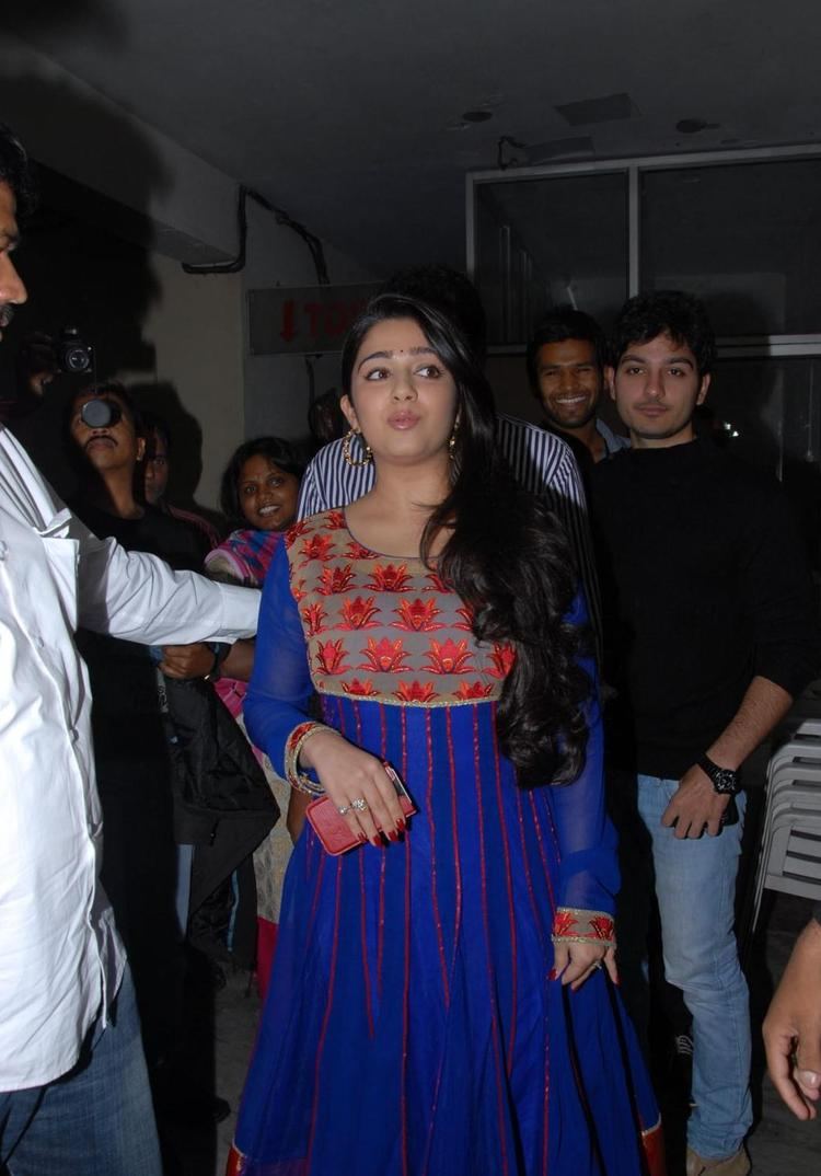Charmy  Arrived At Naveena Cosmetic Slim Clinic Opening