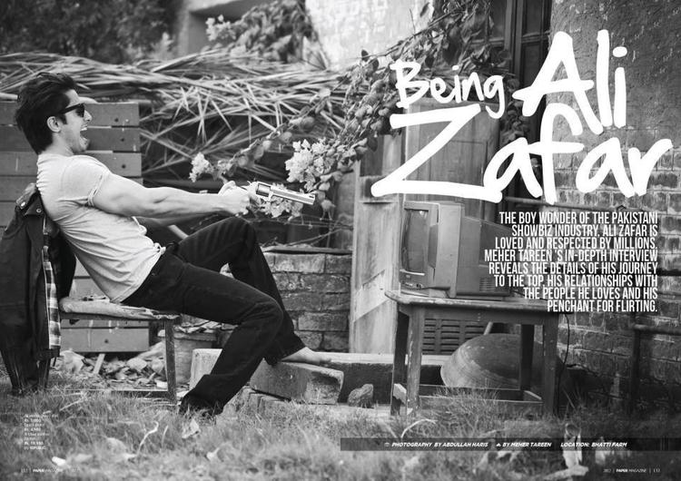 Ali Zafar Amazing Photo Still On Paper Magazine
