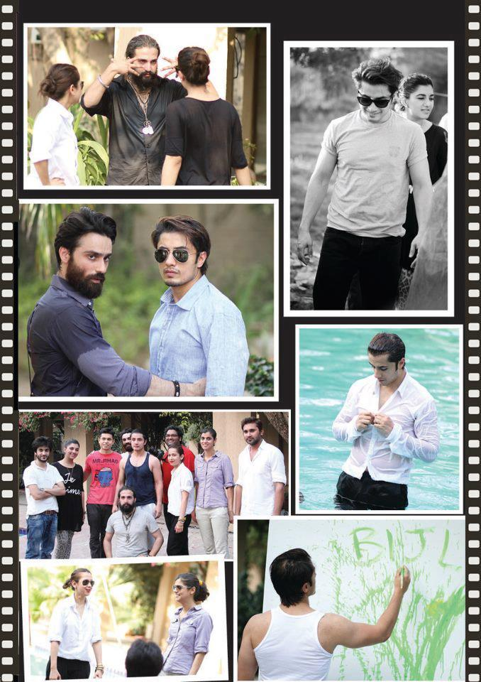 Ali Zafar With Team Different Photos Behind Scene During Photo Shoot For Paper Magazine