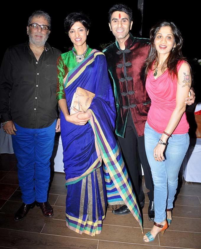 Sandip And Jessi With Aditya And Shalini Smiling Look Snap At Jesse Randhawas Birthday Bash